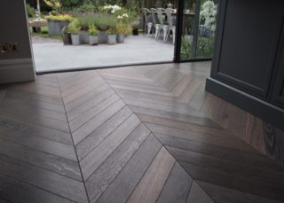 chevron hard wood flooring