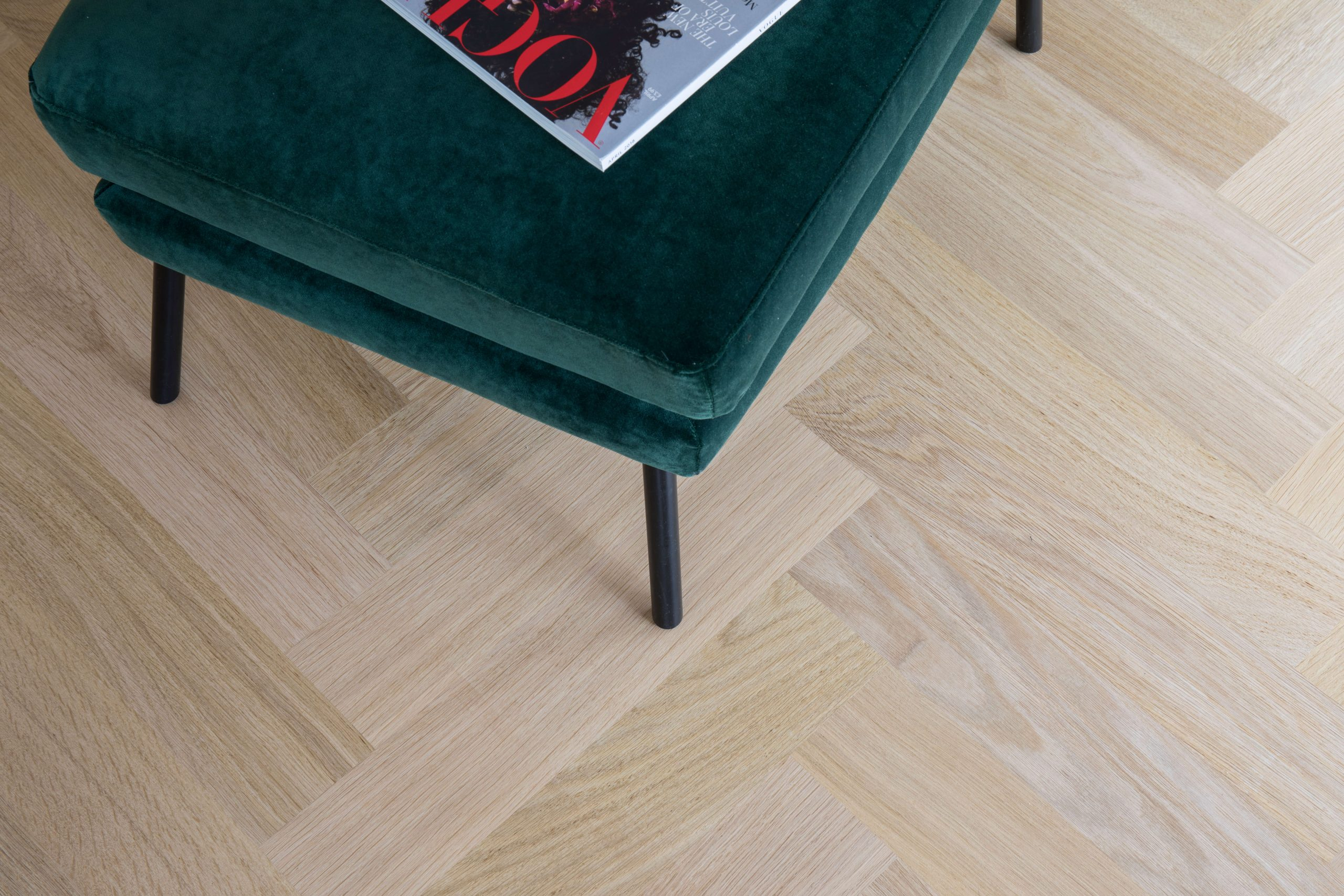 Oak Herringbone  – Battersea SW11 graphic