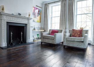 Reclaimed Georgian pine floorboards